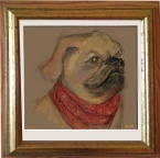 commissioned portrait of a friend's dog