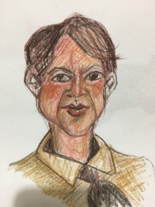 young man (colored charcoal)
