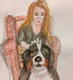 Sasha and Dog