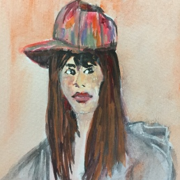 Asian Girl in a colorful hat